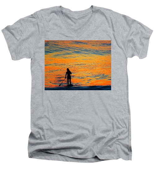 Sunrise Silhouette Men's V-Neck T-Shirt