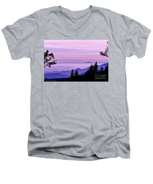 Sunrise Silhouettes Men's V-Neck T-Shirt