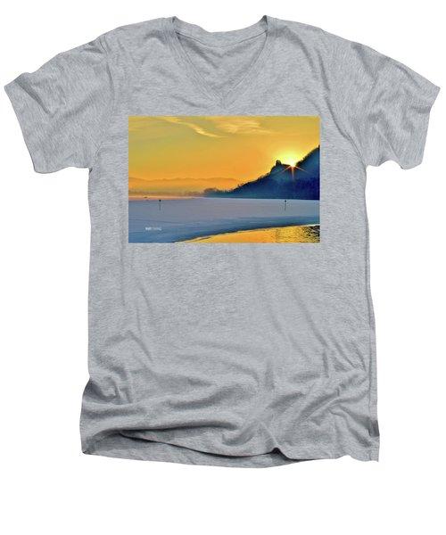 Sunrise Sparkle Men's V-Neck T-Shirt