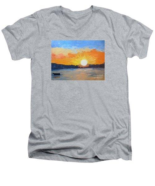 Sunrise Sensation Men's V-Neck T-Shirt