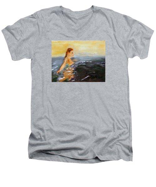 Sunrise Swim Men's V-Neck T-Shirt