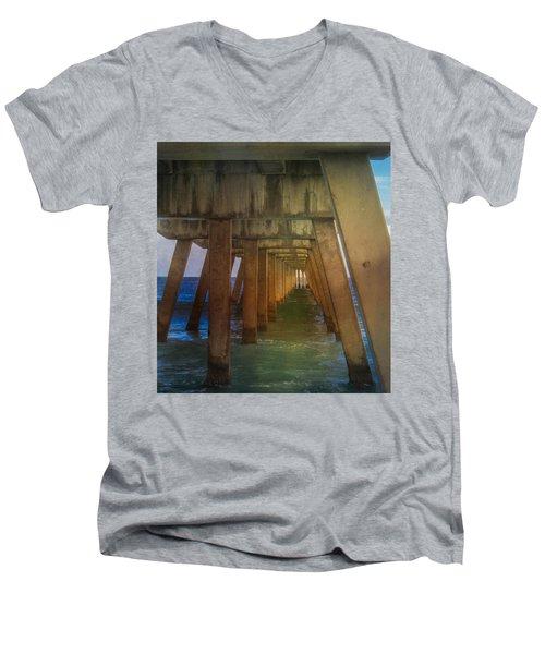 Sunrise Under The Pier Men's V-Neck T-Shirt