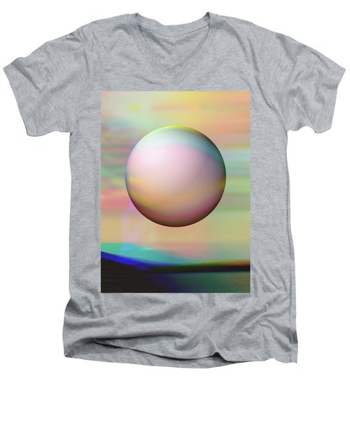 Men's V-Neck T-Shirt featuring the digital art Sunrise Visitor by Wendy J St Christopher