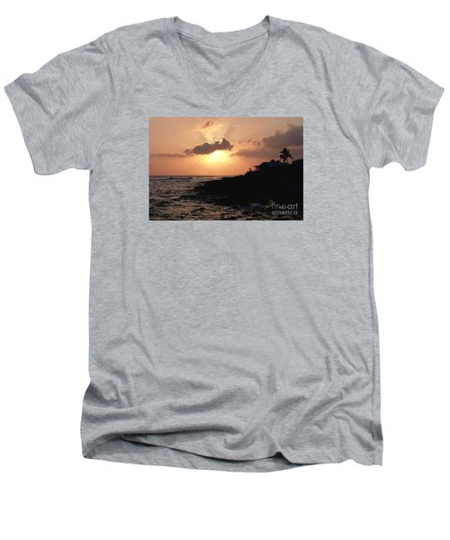 Sunset @ Spotts Men's V-Neck T-Shirt