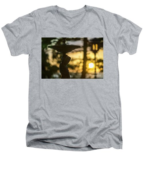 Men's V-Neck T-Shirt featuring the photograph Sunset At Alameda Apodaca Cadiz Spain by Pablo Avanzini