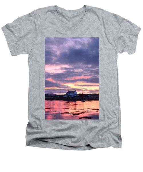Sunset At Clachnaharry Men's V-Neck T-Shirt