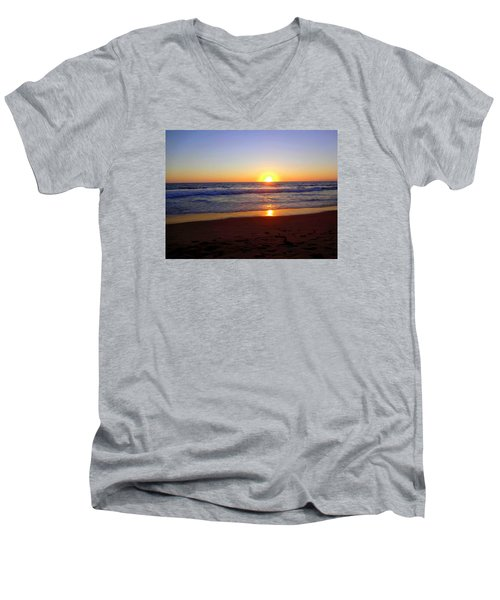 Sunset At Hermosa Men's V-Neck T-Shirt