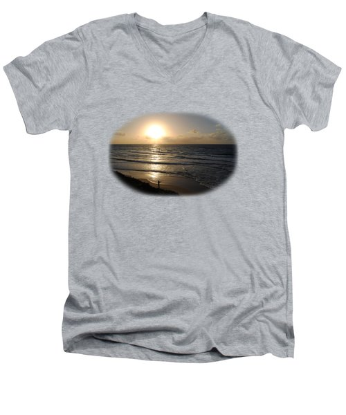 Sunset At Jaffa Beach T-shirt Men's V-Neck T-Shirt by Isam Awad