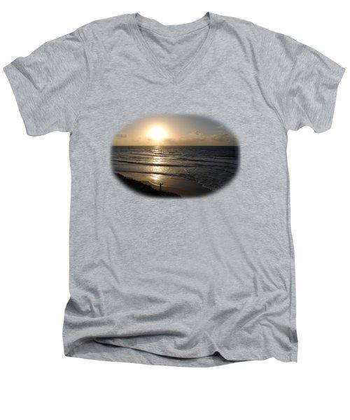 Sunset At Jaffa Beach T-shirt Men's V-Neck T-Shirt