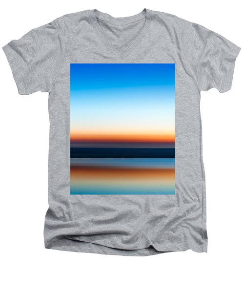 Sunset At Ottawa Lake Men's V-Neck T-Shirt