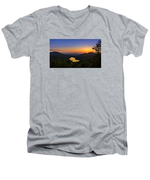 Sunset At Owls Head Men's V-Neck T-Shirt