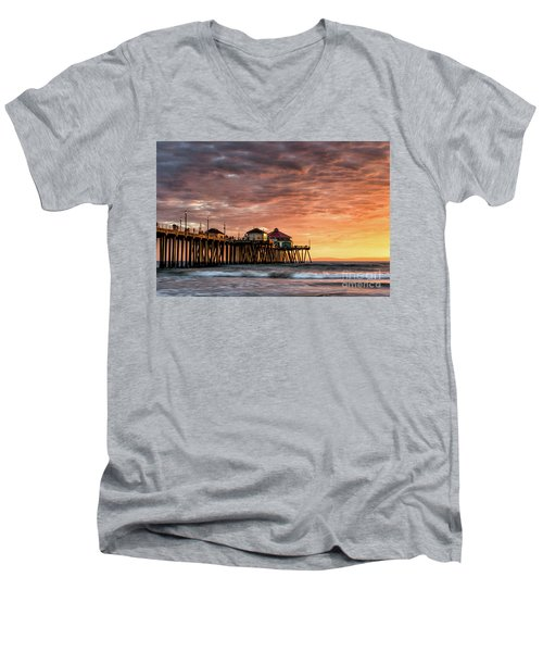Sunset At Ruby's Men's V-Neck T-Shirt