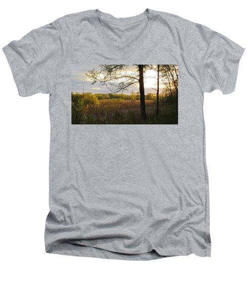Sunset At Scuppernong II Men's V-Neck T-Shirt