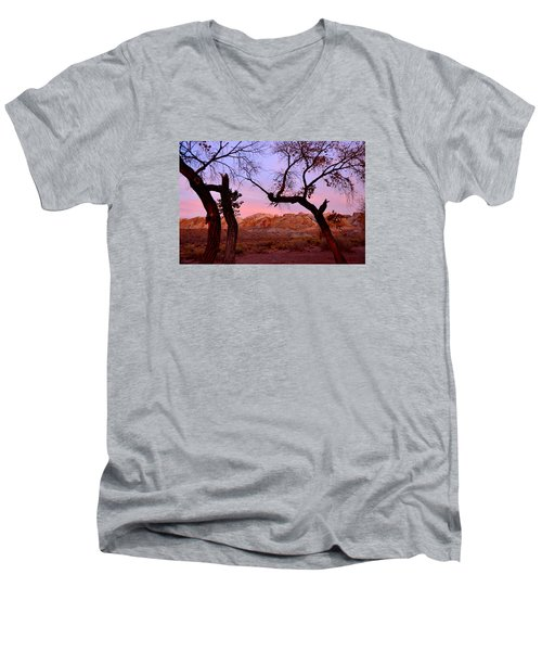 Sunset At The Swell Men's V-Neck T-Shirt