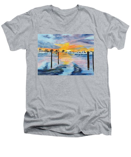 Sunset At The Yacht Club Men's V-Neck T-Shirt
