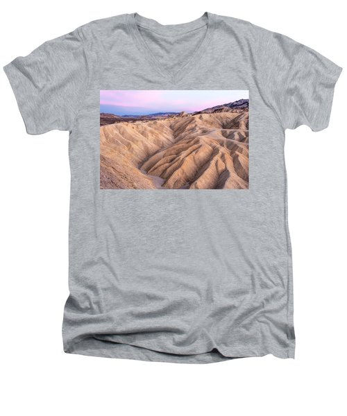 Sunset At Zabriskie Men's V-Neck T-Shirt