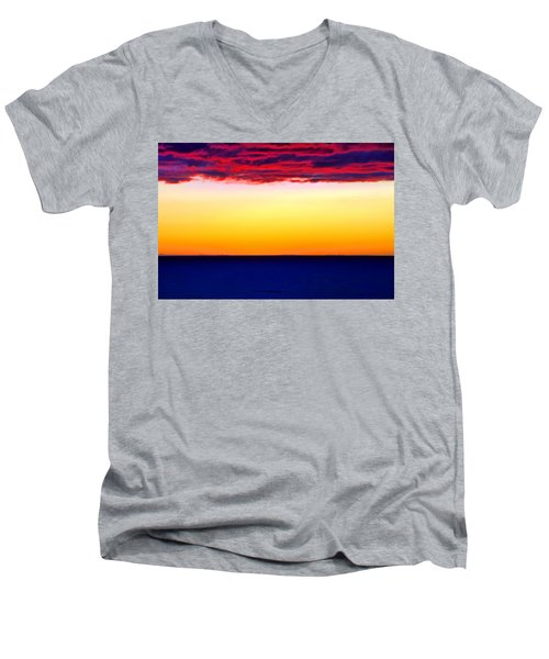 Sunset Background Men's V-Neck T-Shirt