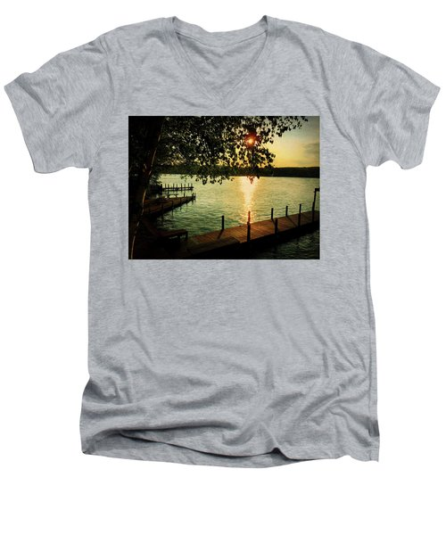 Sunset Bay Men's V-Neck T-Shirt