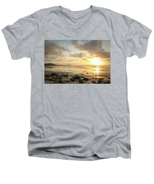 Sunset Beach Delight Men's V-Neck T-Shirt
