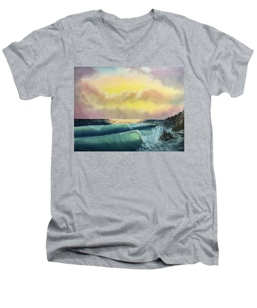 Sunset Beach Men's V-Neck T-Shirt