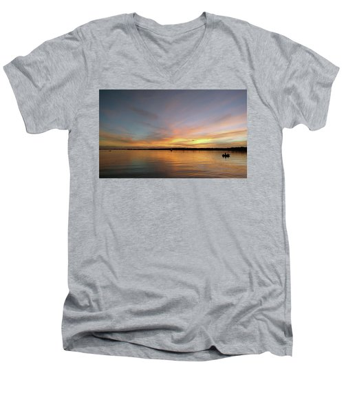 Sunset Blaze Men's V-Neck T-Shirt