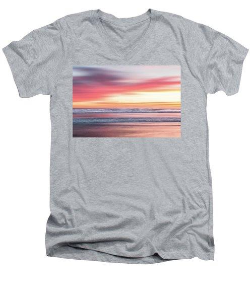 Sunset Blur - Pink Men's V-Neck T-Shirt
