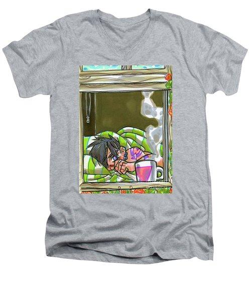 Sunset Brew Men's V-Neck T-Shirt