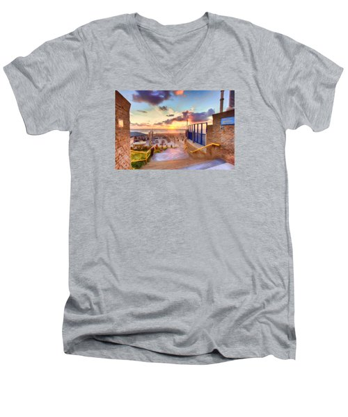 Sunset By The Sea Men's V-Neck T-Shirt