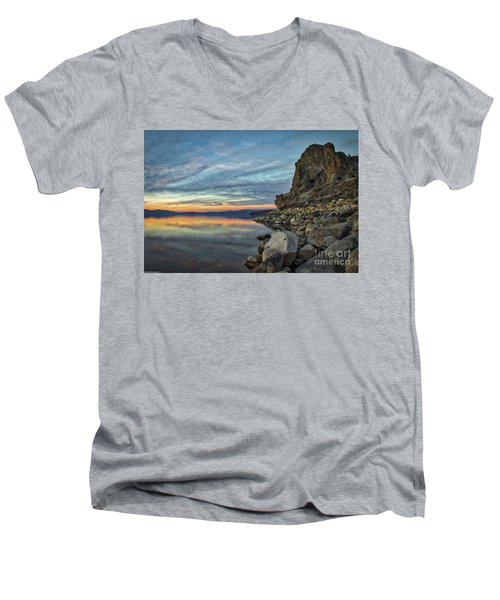 Sunset Cave Rock 2015 Men's V-Neck T-Shirt