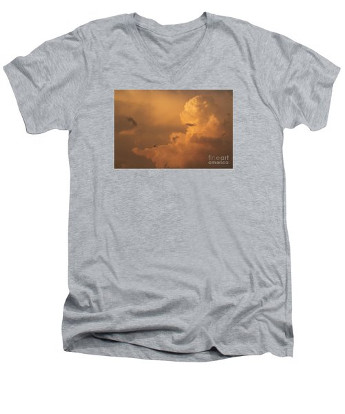 Sunset Clouds 01 Men's V-Neck T-Shirt