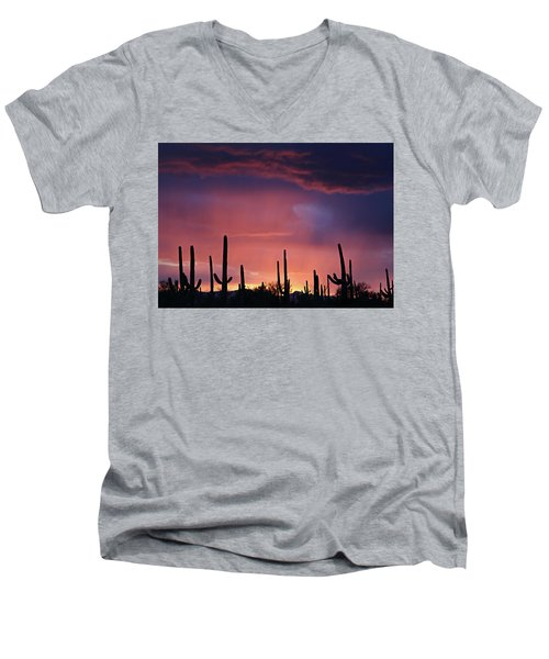 Sunset Colors Men's V-Neck T-Shirt