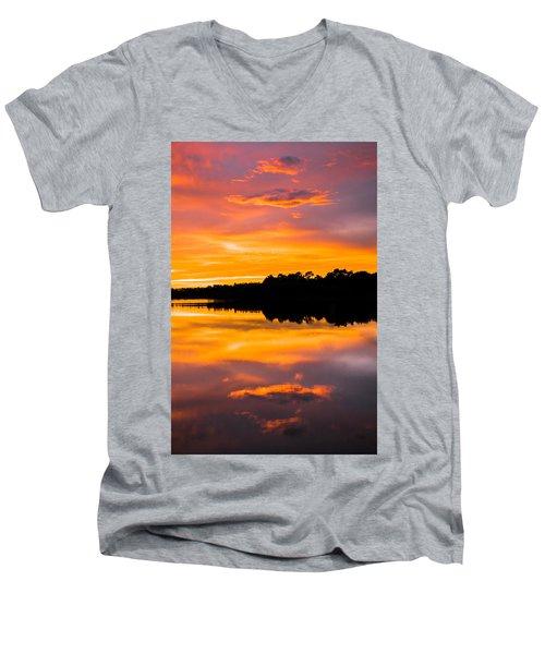 Sunset Colors Men's V-Neck T-Shirt
