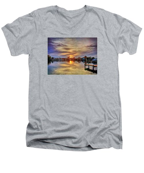 Sunset Creek Men's V-Neck T-Shirt