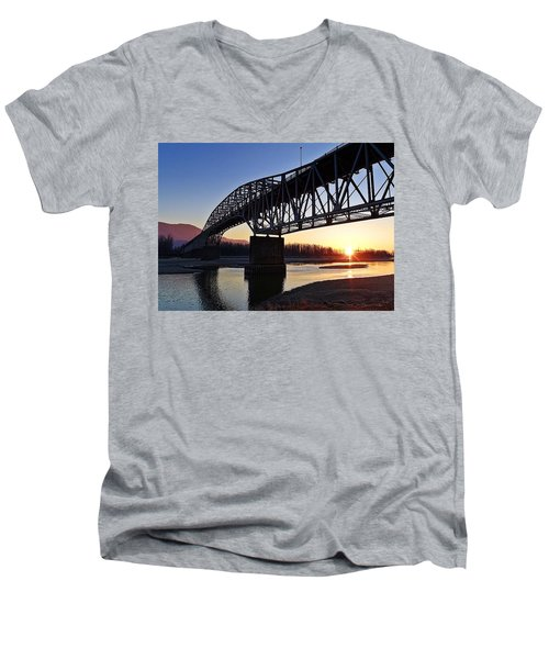 Fraser River, Bc  Men's V-Neck T-Shirt by Heather Vopni