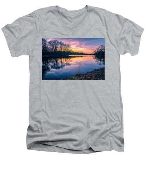 Sunset-dorothy Pond Men's V-Neck T-Shirt by Craig Szymanski