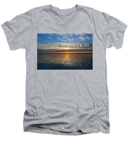 Sunset Dream  Men's V-Neck T-Shirt by Lyle Crump