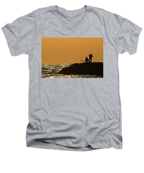 Sunset Fishermen Men's V-Neck T-Shirt
