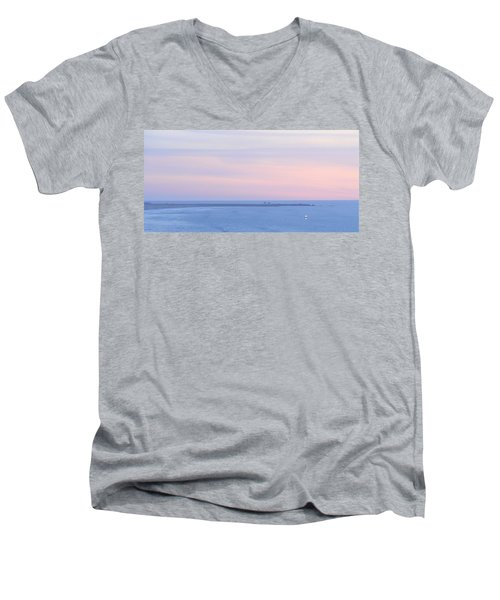 Sunset From Irish Beach Men's V-Neck T-Shirt