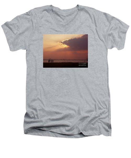 Sunset Gathering Men's V-Neck T-Shirt