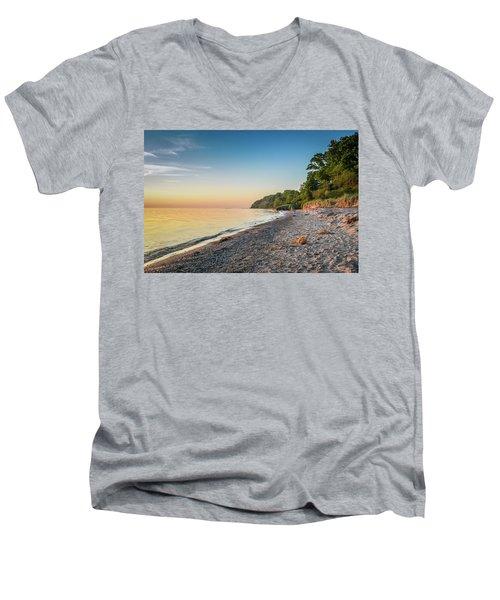Sunset Glow Over Lake Men's V-Neck T-Shirt
