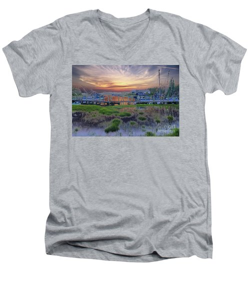 Sunset Harbor Dream Men's V-Neck T-Shirt