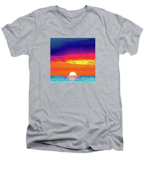 Sunset In Abstract 500 Men's V-Neck T-Shirt