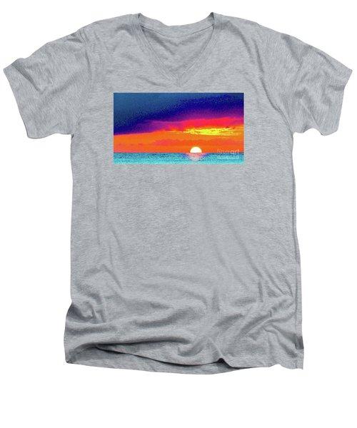Sunset In Abstract  Men's V-Neck T-Shirt