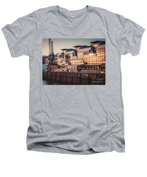 Sunset In Altona Hamburg Men's V-Neck T-Shirt