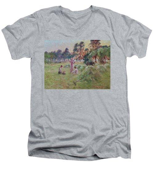 Sunset In Beynac-et-cazenac Men's V-Neck T-Shirt