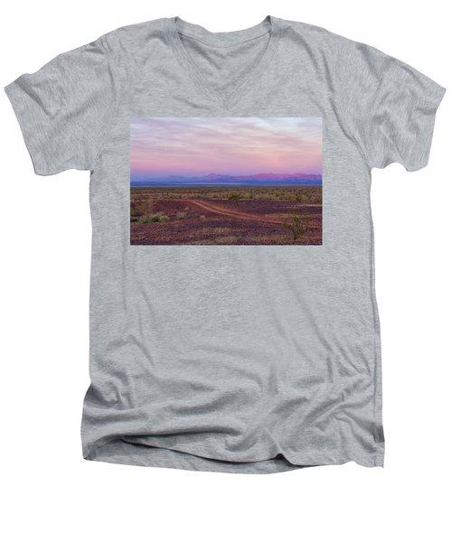 Sunset In Bouse Men's V-Neck T-Shirt