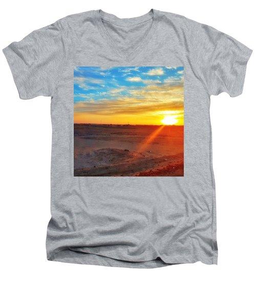 Sunset In Egypt Men's V-Neck T-Shirt