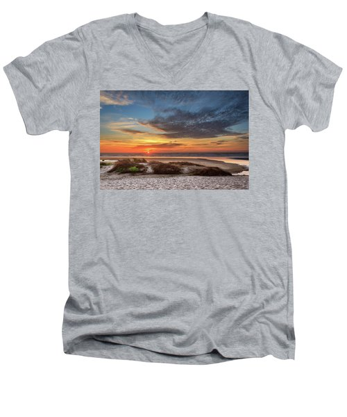 Men's V-Neck T-Shirt featuring the photograph Sunset In Florence by James Eddy
