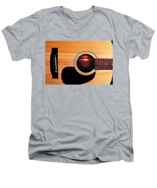 Sunset In Guitar Men's V-Neck T-Shirt