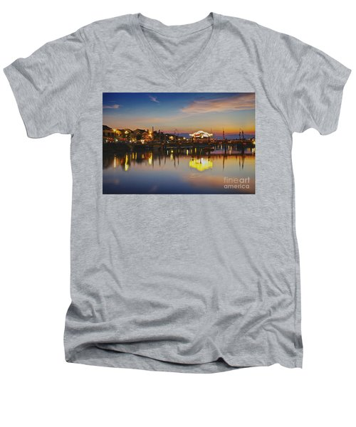 Sunset In Hoi An Vietnam Southeast Asia Men's V-Neck T-Shirt